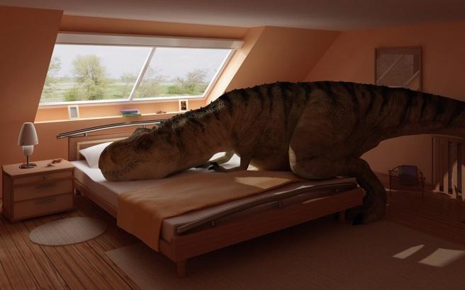dinosaurinmybed