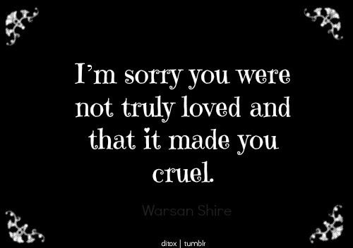 """Cruel"". Cas is cruel."