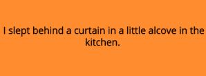Cat Sleeping in a kitchen